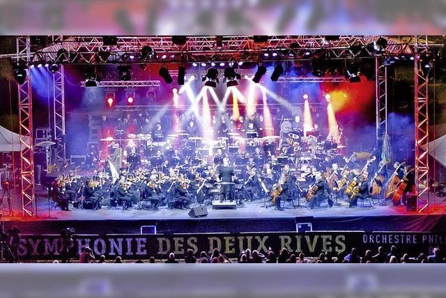 La Symphonie des Arts im Garten der zwei Ufer in Straßburg