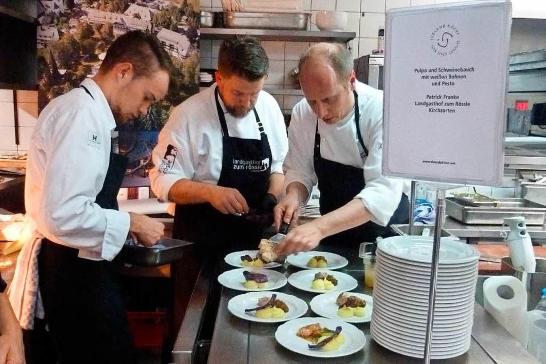 Von der Vorspeise bis zum Dessert stim...nü  im Ihringer Restaurant  Bräutigam.  | Foto: Christine Weirich