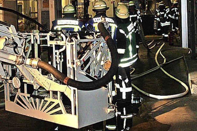 Maschinenbrand in der Nachtschicht