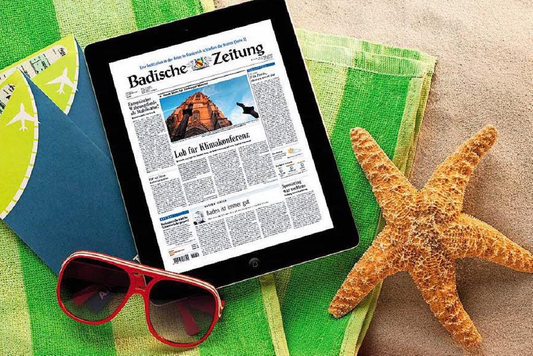 Auch unterwegs mit BZ-Digital Premium bestens informiert    Foto: Badische Zeitung