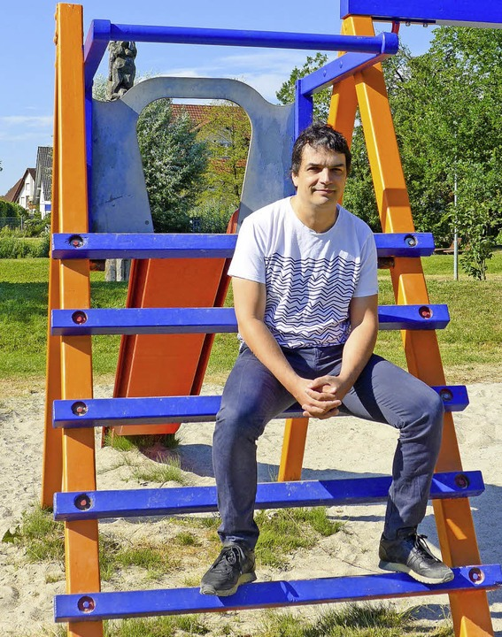 Start-up-Gründer Alexander Feldberger ..., wo er gerne mit seinen Kindern ist.   | Foto:  usk