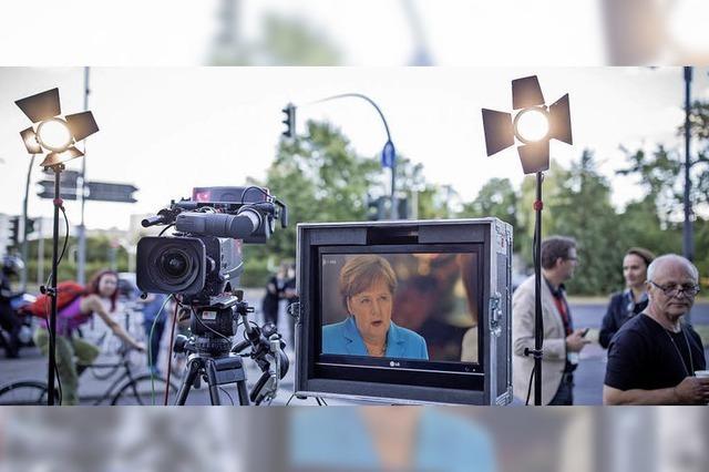 Die Werbebotschaft Merkels