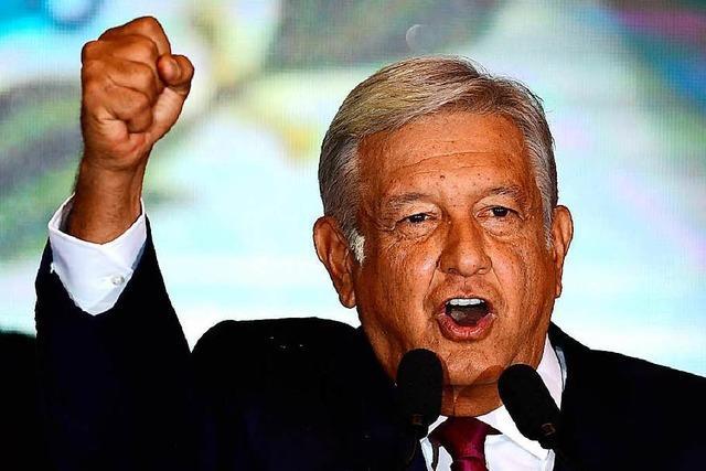 Historischer Machtwechsel in Mexiko: Linksnationalist López Obrador gewählt