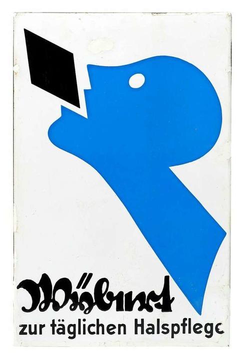 Die Neue Sachlichkeit auf einer Reklam...ybert, gestaltet von Niklaus Stoecklin  | Foto: Dreiländermuseum