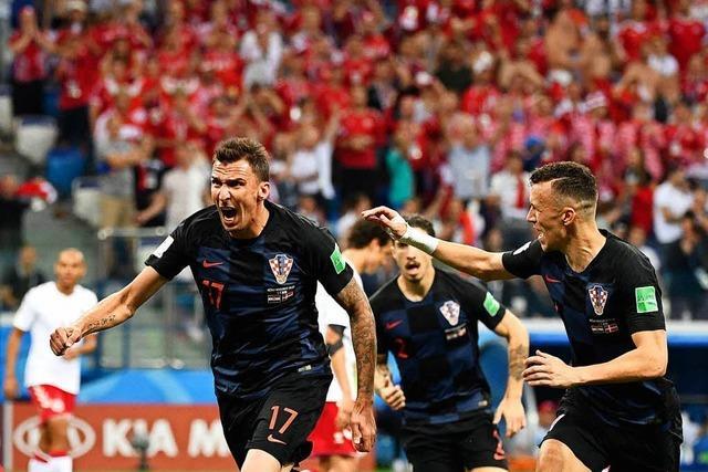 Spannung erst ganz am Schluss – Kroatien besiegt Dänemark mit 3:2