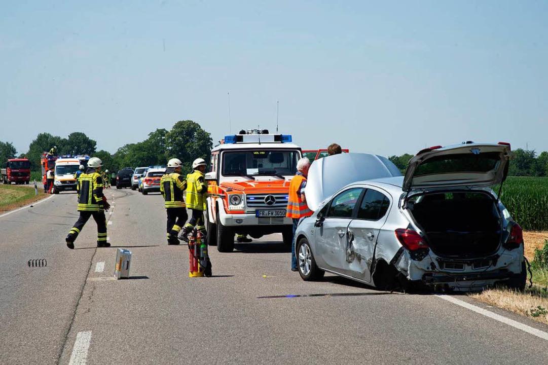 Glück hatten die Insassen zweier  Fahrzeuge, die auf der B3 kollidierten.    Foto: Volker Münch