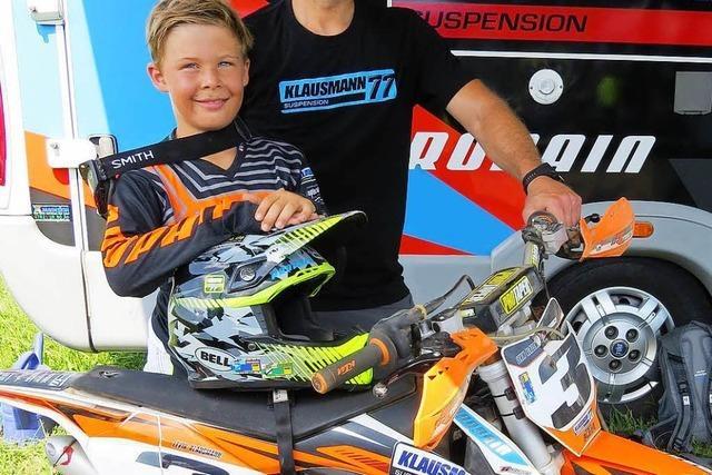 Warum der zehnjährige Levin Klausmann Motorrad fährt