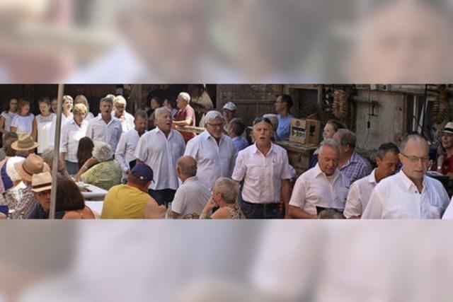 Tannenkircher Popchor bringt Brauerei zum Klingen