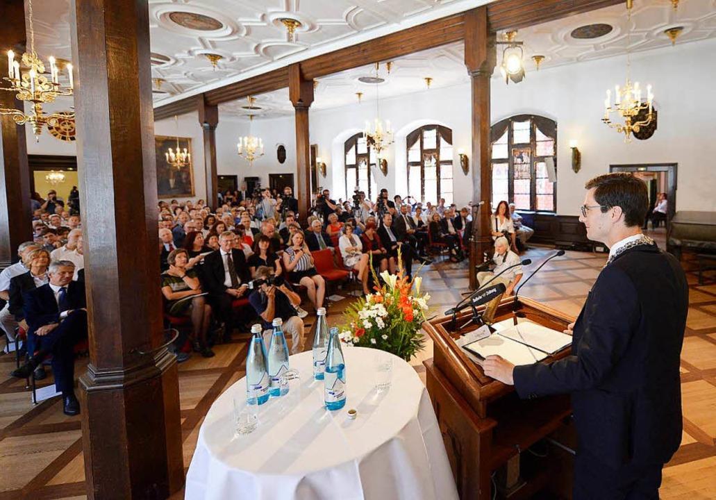 Der Andrang im Kaisersaal war groß.  | Foto: Ingo Schneider
