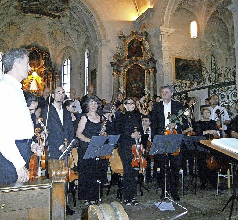 Das Oberrheinische Sinfonieorchester u...ach in der Todtmooser Wallfahrtskirche  | Foto: Renate Griesser
