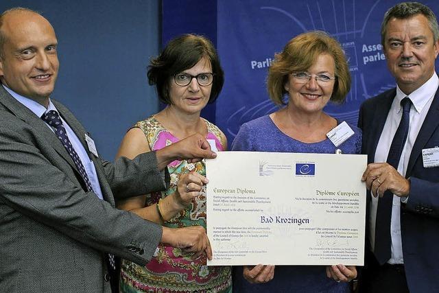 Europa-Diplom für Bad Krozingen