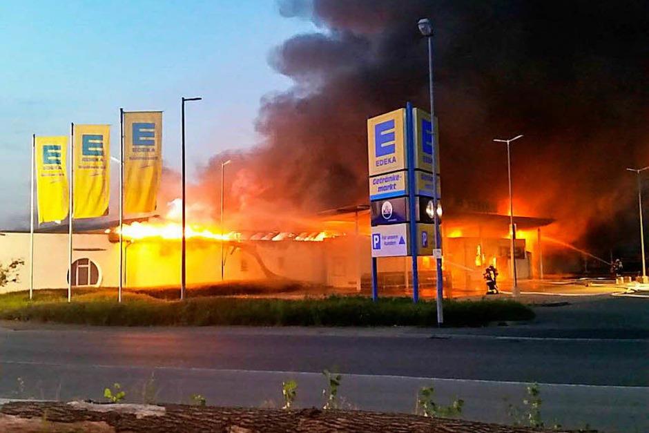 Bilder vom Großbrand in Breisach (Foto: Patrick Kerber)