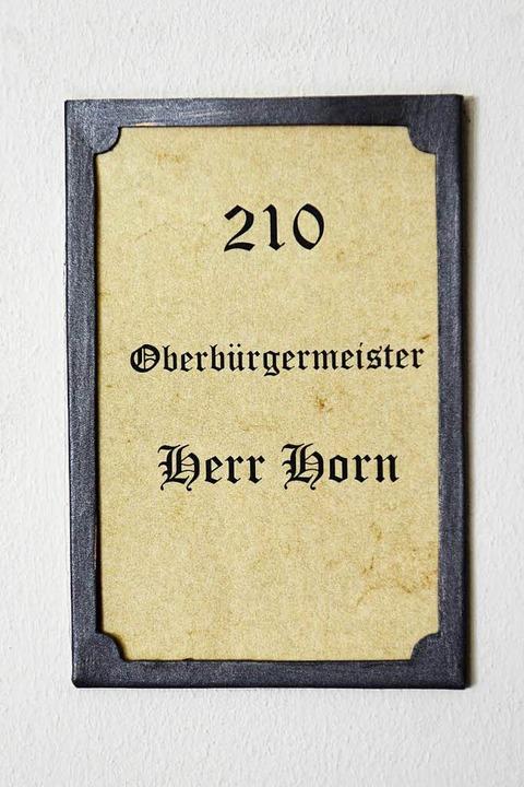 Das neue Namensschild  | Foto: Ingo Schneider