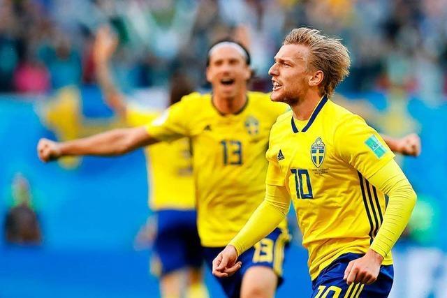 Schweden besiegt die Schweiz mit 1:0 und steht im Viertelfinale