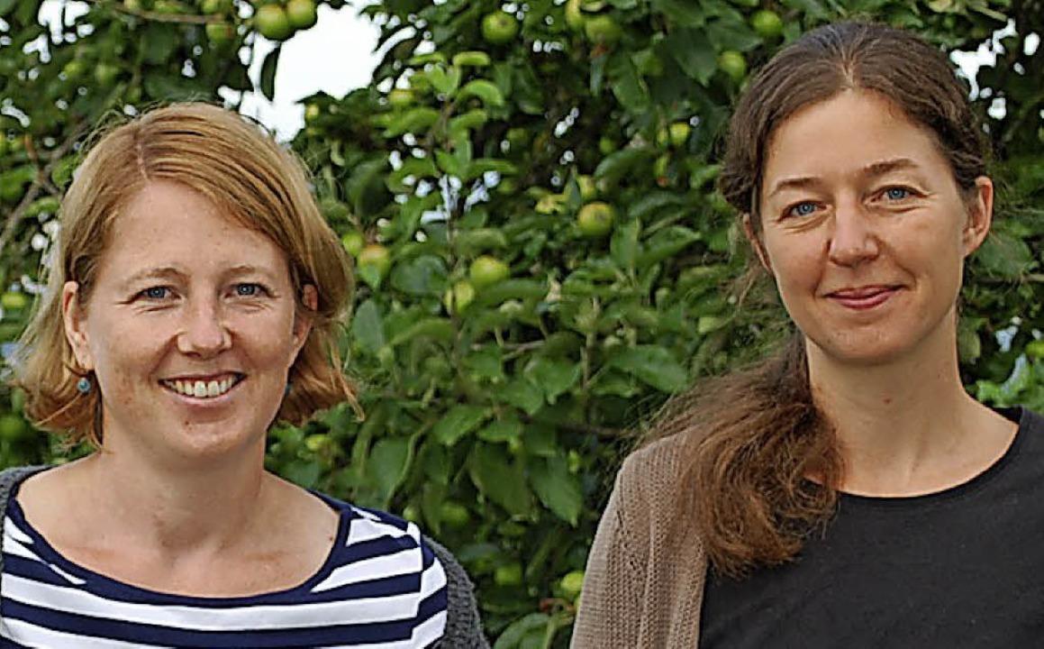Astrid Deek (links) und Isabel Szabó vom Trinationalen Umweltzentrum  | Foto: Thomas Loisl Mink