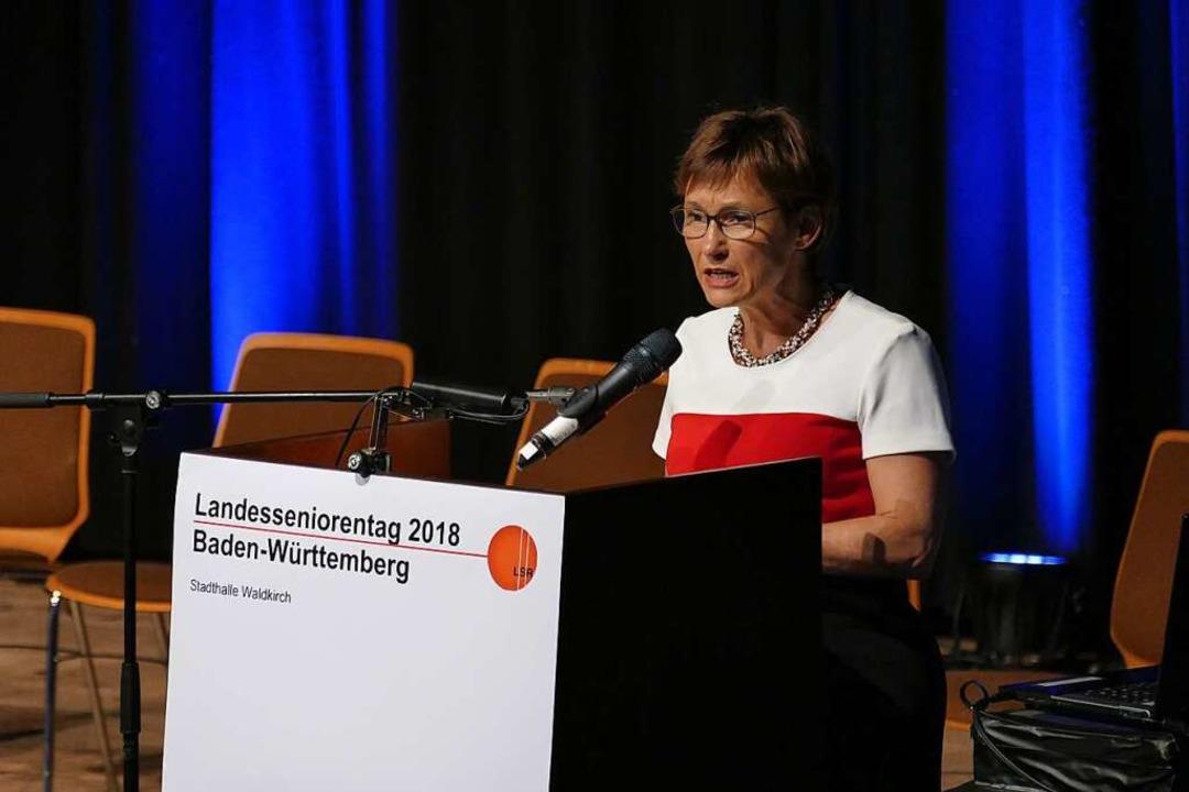 Sabine Kurtz, Vizepräsidentin des Landtags  | Foto: Sylvia Sredniawa