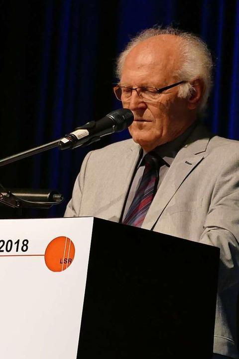 Uwe Bähr, stellvertretender Vorsitzender des Landesseniorenrates  | Foto: Sylvia Sredniawa