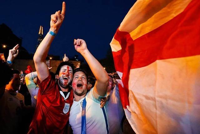 So freut sich England über den Elfmeter-Sieg gegen Kolumbien
