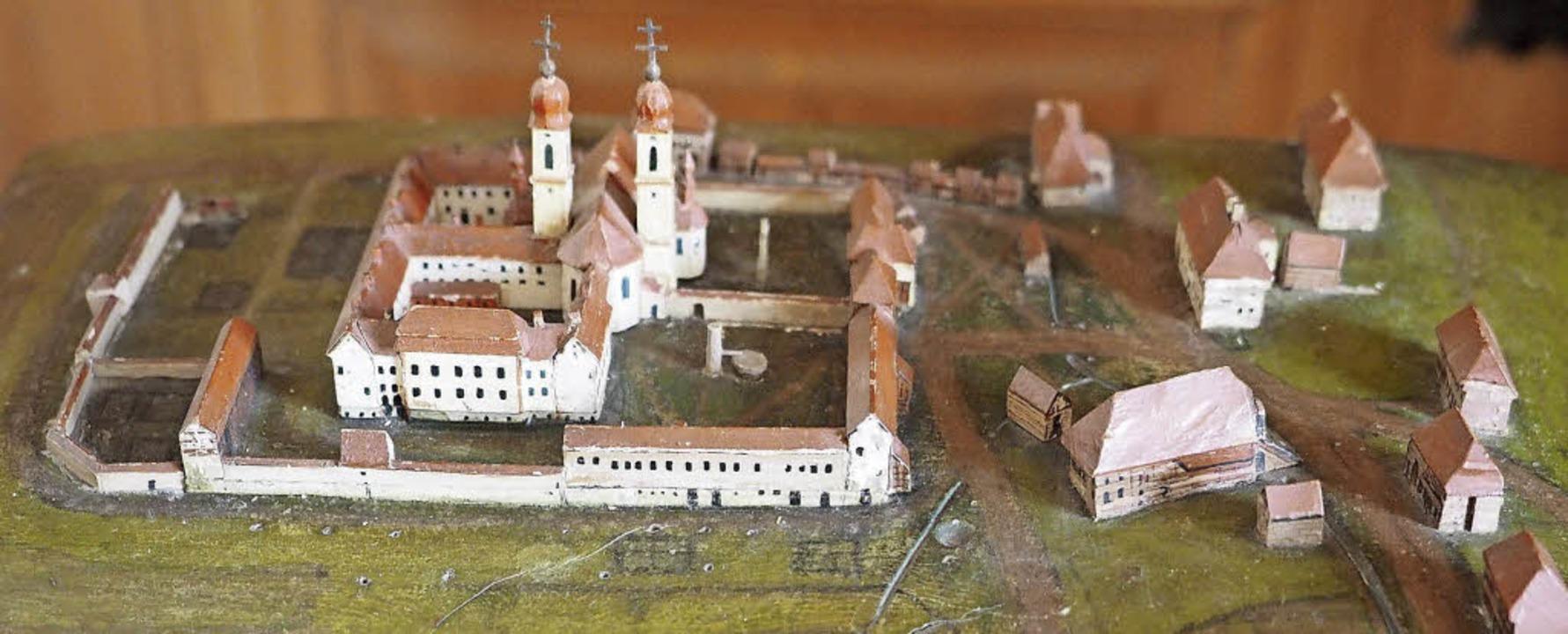 Teilansicht eines sehr exakten Modells des Dorfs St. Märgen –  um 1830.   | Foto: Susanne Gilg