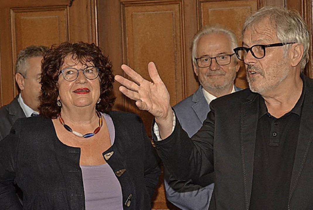 Bärbl Mielich mit Hans-Jörg Jenne.  | Foto: Benedikt Sommer