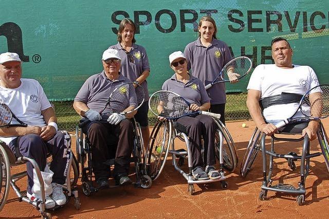Vorbereitungen auf Matches im Rollstuhl