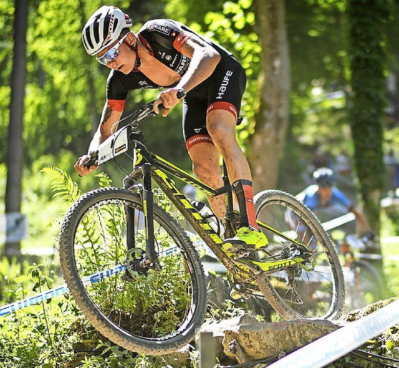 Bereit abzuheben: Georg Egger vom Team Lexware   | Foto: Dobslaff