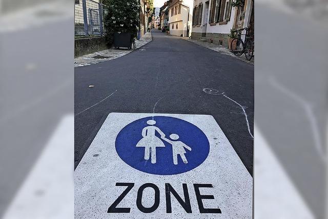 Hinweise auf die Fußgängerzone