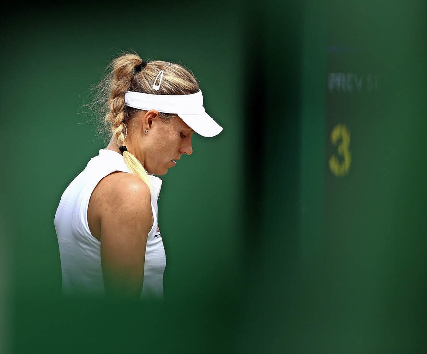 Ihr Trainer Wim Fissette sagt, Angelique Kerber habe einen Hang zum Negativen.   | Foto: dpa