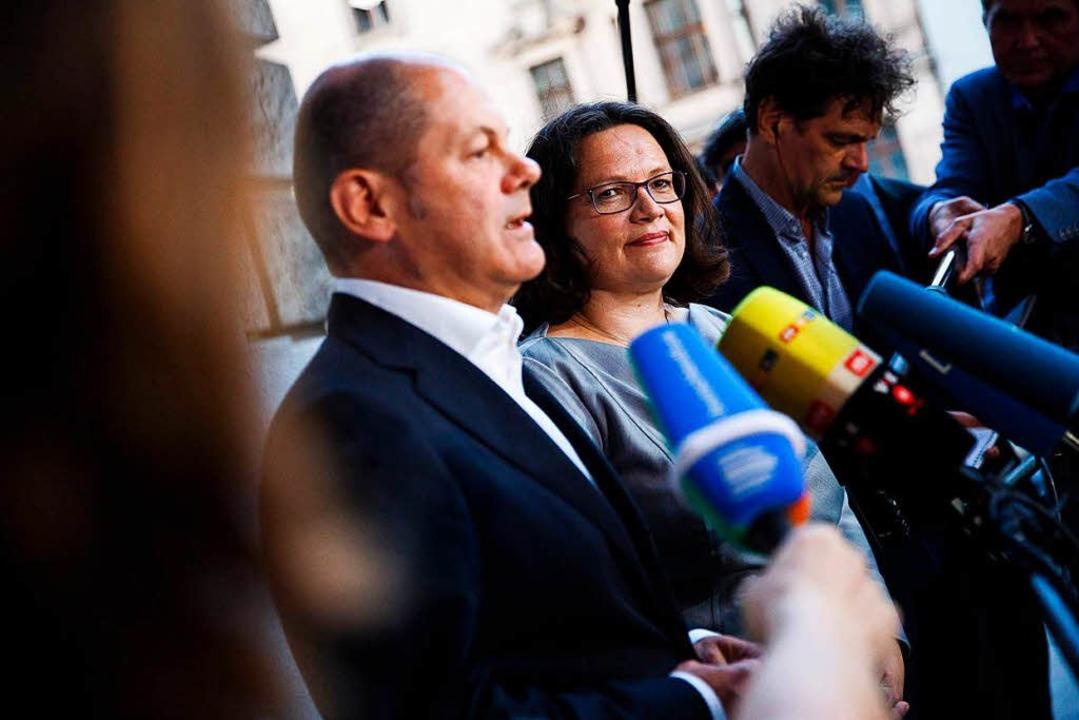 Olaf Scholz (SPD), Bundesfinanzministe...litionsausschusses von CDU/CSU und SPD  | Foto: dpa