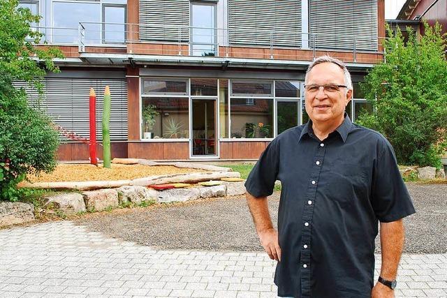 Jürgen Jaks hat die Lörracher Waldorfschule mit aufgebaut