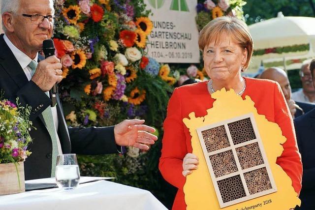 Bei der Stallwächterparty mit Merkel ging's um Artenvielfalt – und das Verhältnis zu den Bayern
