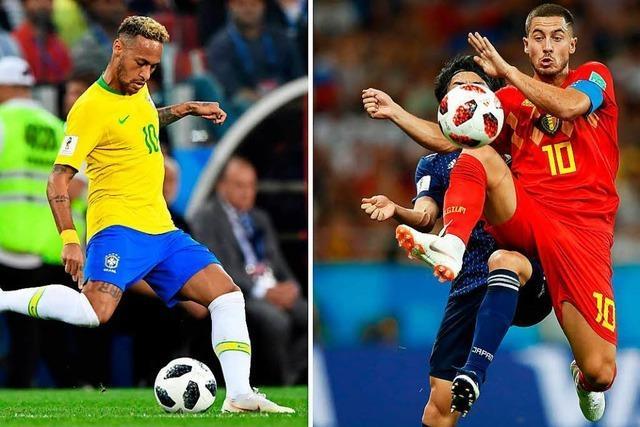 Das vorweggenommene Finale: Mit Brasilien und Belgien treffen zwei Titelanwärter aufeinander