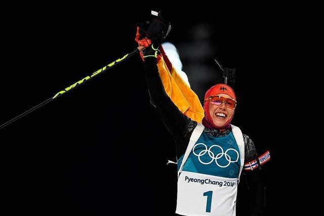 Biathlon-Olympiasiegerin Laura Dahlmeier setzt ihre Karriere fort