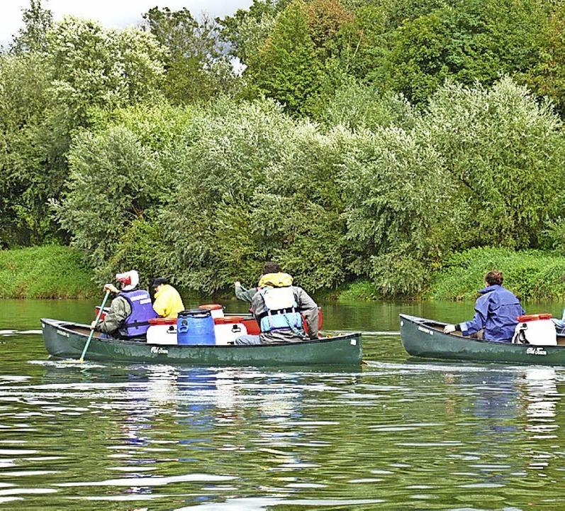 Die Kanutouren eröffnen  neue Perspektiven.     Foto: Truz