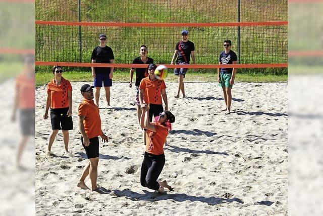 Voll Einsatz am Volleyballnetz