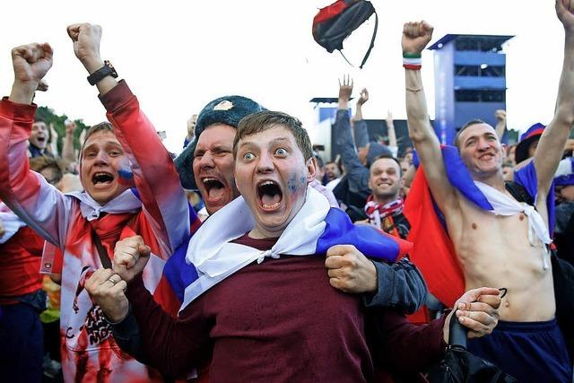 Vor dem Viertelfinale gegen Kroatien schwappt in Russland Hurrapatriotismus über
