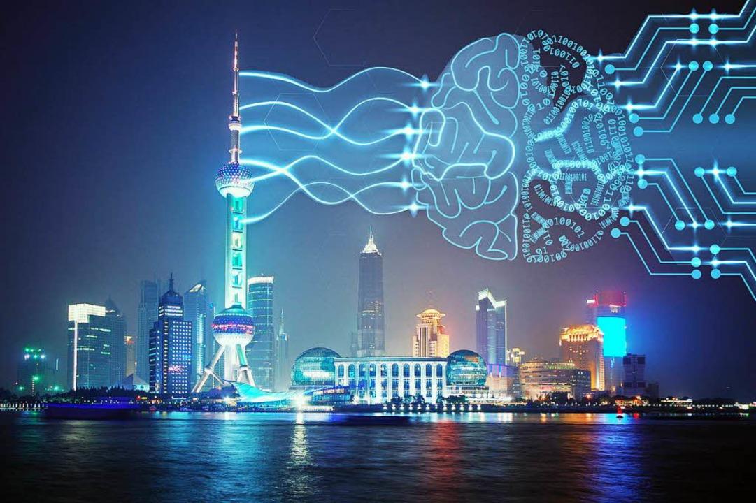 China will bald weltweit führend sein ... Entwicklung künstlicher Intelligenz.     Foto: adobe / dpa