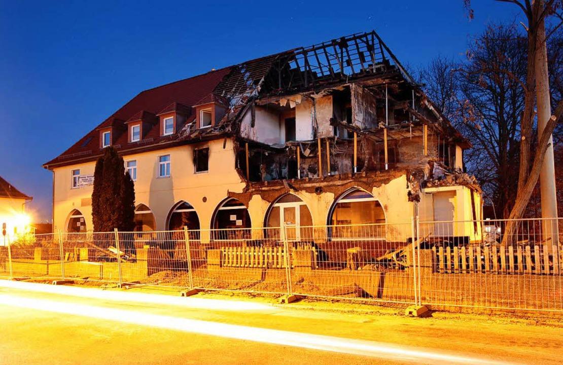 Das Zwickauer Haus, in dem  Beate Zsch...  Wohnung des Trios  in die Luft jagte  | Foto: dpa