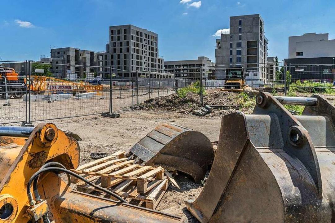 Nicht nur in Straßburg, im ganzen Elsass wird derzeit viel gebaut.    Foto: teli