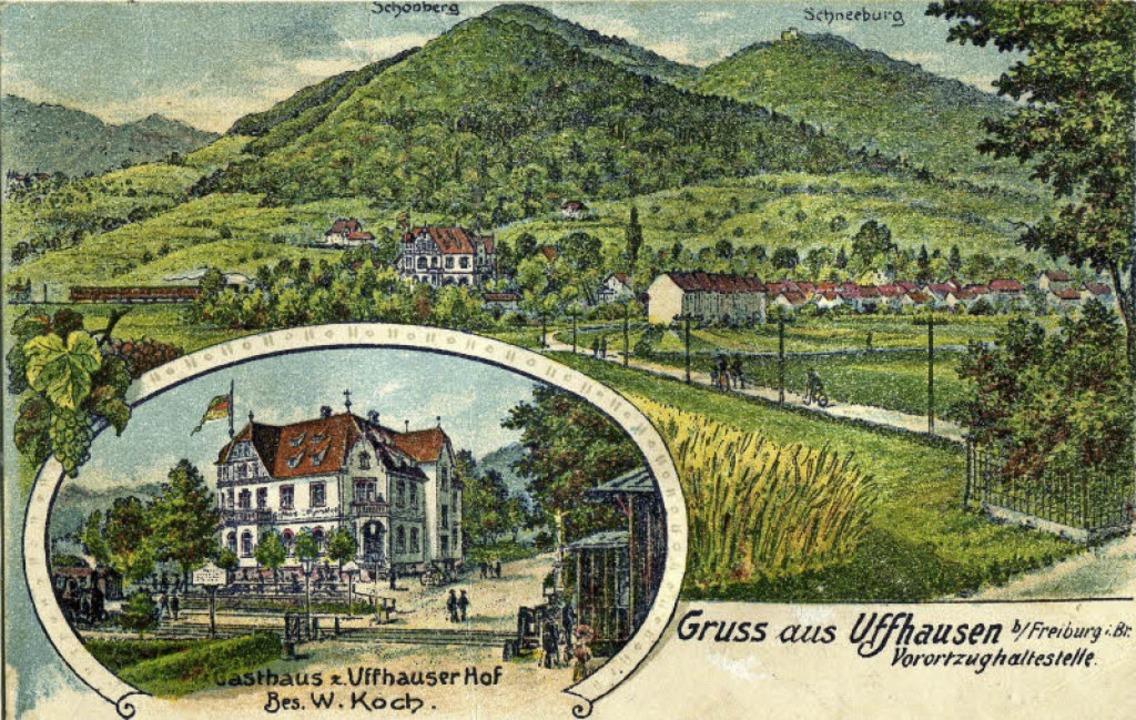 """Einen """"großen Bahnhof"""" gab...tand der """"Uffhauser Hof"""".     Foto: Archiv Hans-Jürgen Oehler"""