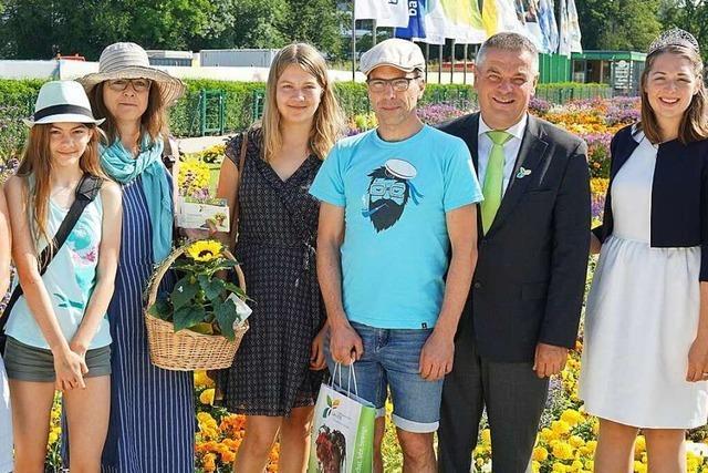Landesgartenschau begrüßt den 400 000. Besucher
