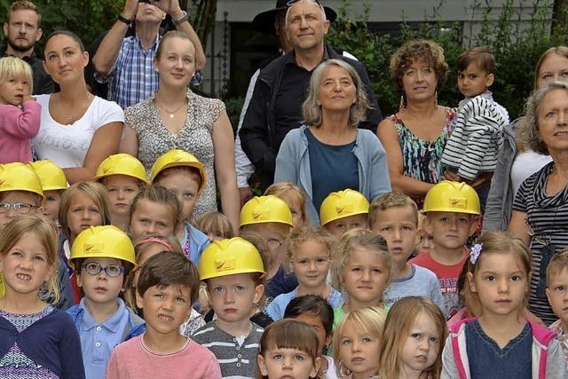 Richtfest am Kinderhaus St. Laurentius
