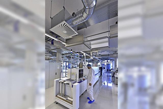Forschungsfabrik für Solarzellen