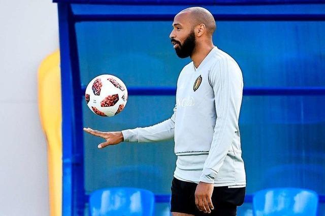 Der Franzose Thierry Henry unterstützt Belgien als Co-Trainer