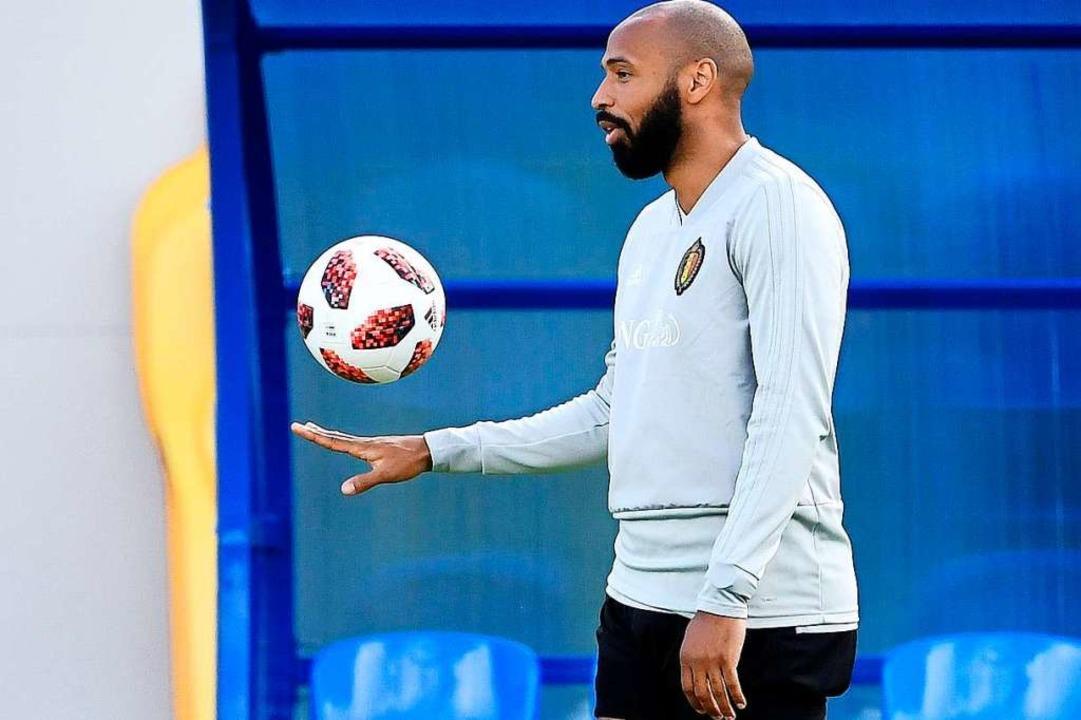 Ein französisches Fußballidol in Diensten der Belgier: Thierry Henry  | Foto: afp