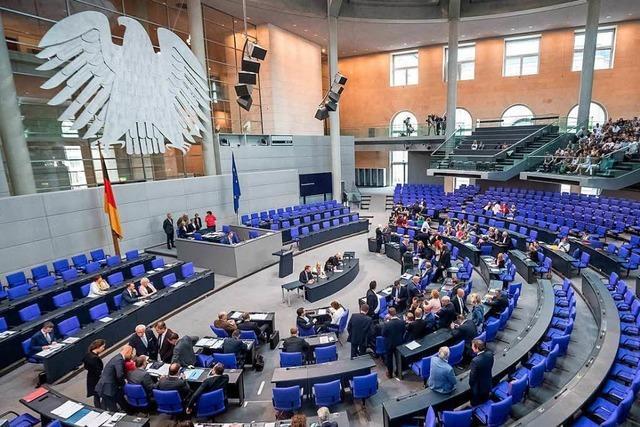 Im Bundestag liegt einiges im Argen