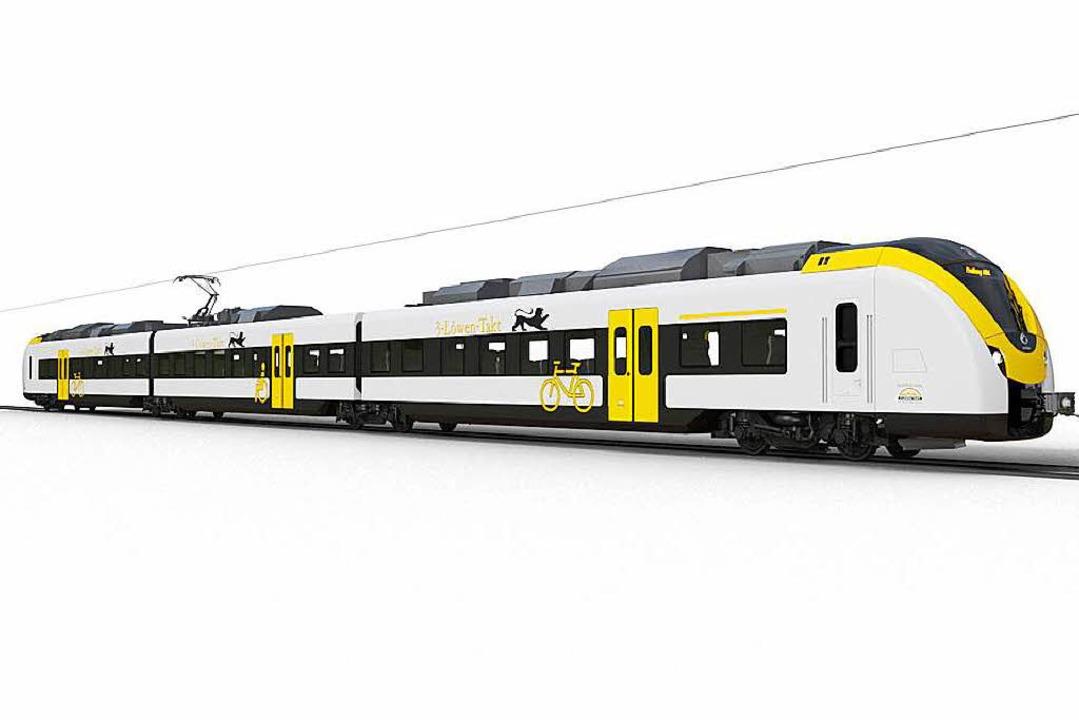 Die neuen Alstom-Triebwagen sollen ab ...der Breisgau-S-Bahn fahren<ppp></ppp>   | Foto: Alstom/Kunz/Schneider