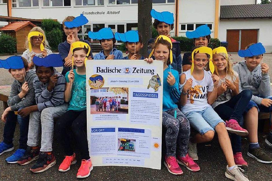 Erster Platz (Bereich Ortenau und Kreis Emmendingen): Klasse 4b, Grundschule Altdorf, Ettenheim (Foto: privat)