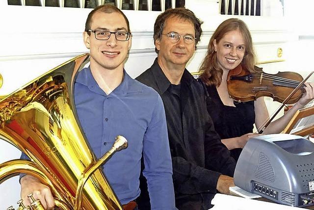 Violine, Tuba und Orgel