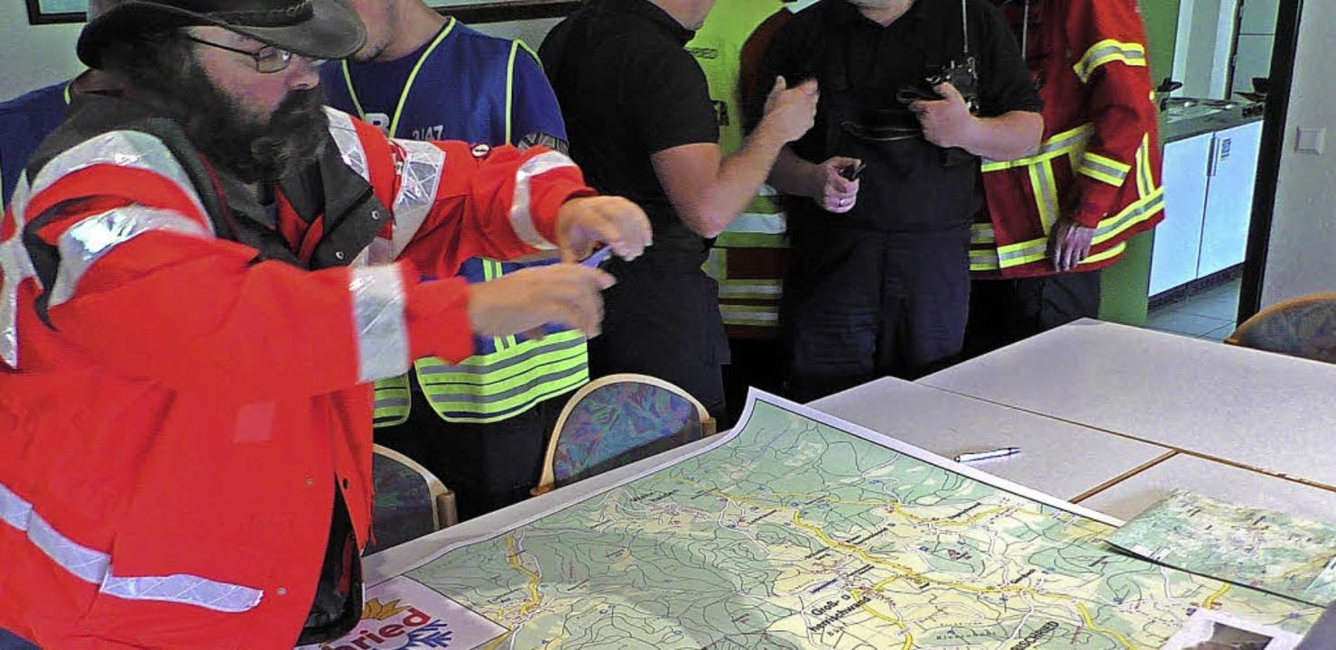 Ein riesiges Einsatzgebiet rund um Herrischried durchsuchten die Einsatzkräfte.    Foto: Kamera 24